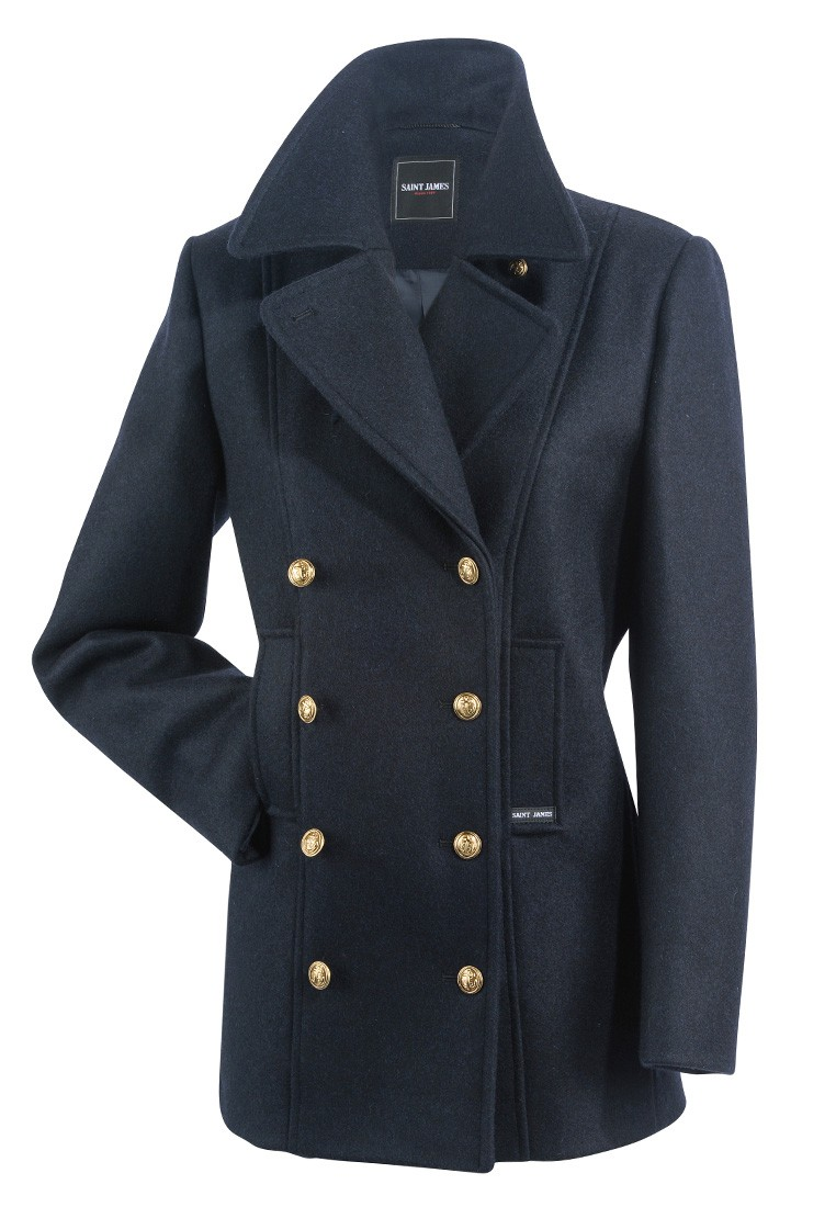 saint james damen cabanjacke mantel wintermantel marine voilure ii 191. Black Bedroom Furniture Sets. Home Design Ideas