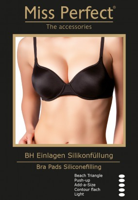 Miss Perfect Silikon BH Einlagen Beach - Triangle – Bild 2